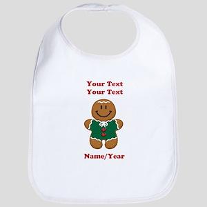 Personalize Gingerbread Baby [elf] Bib